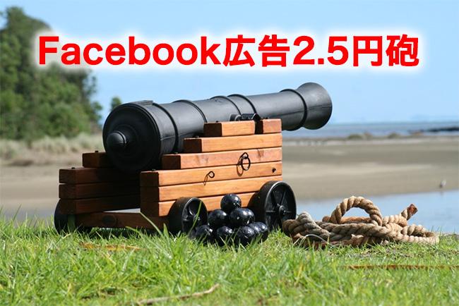Facebook広告2.5円砲発動中!