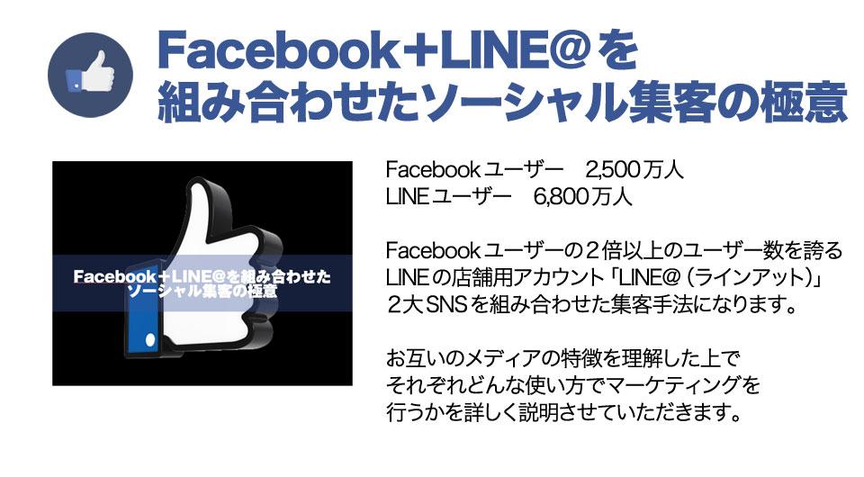 Facebook+LINE@を 組み合わせたソーシャル集客の極意