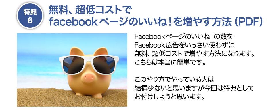 特典6 無料、超低コストで facebookページのいいね!を増やす方法(PDF)