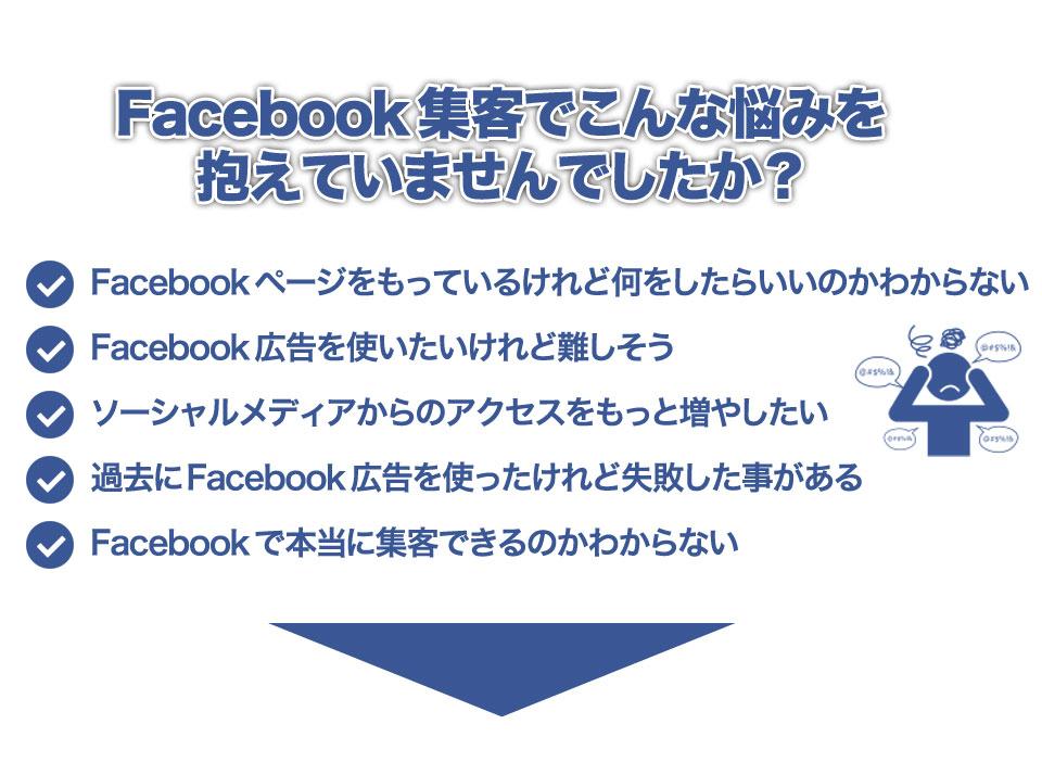 Facebook集客でこんな悩みを抱えていませんでしたか?