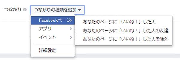Facebook広告のつながり設定