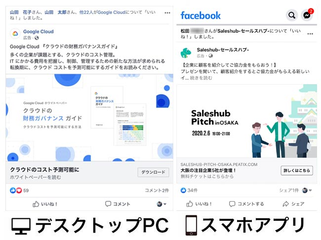 facebook広告表示