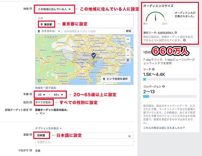 facebook広告東京に住んでいる人